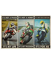 Motorcycle Racer Isle o Mn TT its not mttn ngt 24x16 Poster front
