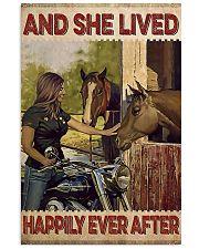 Biker girl horse poster 11x17 Poster front
