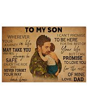 military dad to my son pt lqt ntv ads 17x11 Poster front