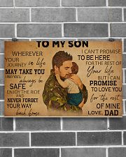 military dad to my son pt lqt ntv ads 17x11 Poster poster-landscape-17x11-lifestyle-18