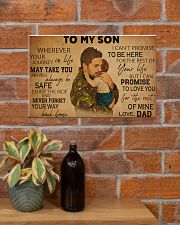 military dad to my son pt lqt ntv ads 17x11 Poster poster-landscape-17x11-lifestyle-23