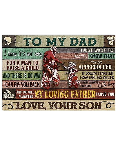 motorcycle to my dad poster