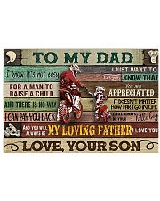 motorcycle to my dad poster 17x11 Poster front