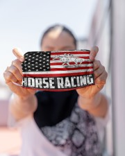 Horse Racing us flag mas Cloth Face Mask - 3 Pack aos-face-mask-lifestyle-07