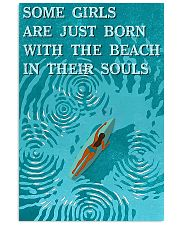 surfing beach girl born 11x17 Poster front
