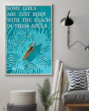 surfing beach girl born 11x17 Poster lifestyle-poster-1
