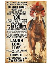 horse riding today 11x17 Poster front