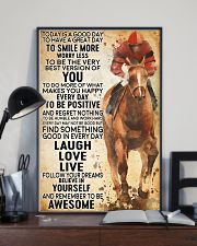 horse riding today 11x17 Poster lifestyle-poster-2