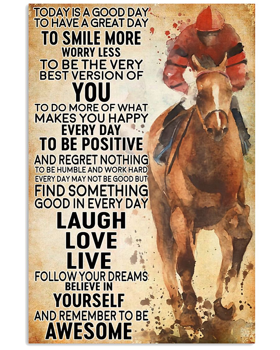 horse riding today 16x24 Poster