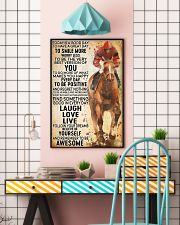 horse riding today 16x24 Poster lifestyle-poster-6
