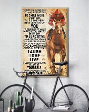 horse riding today 16x24 Poster lifestyle-poster-7