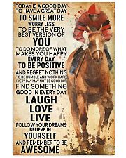 horse riding today 24x36 Poster front