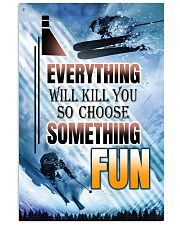 skiing choose something fun center poster 11x17 Poster front