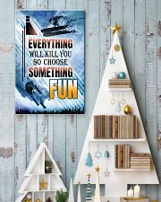 skiing choose something fun center poster 11x17 Poster lifestyle-holiday-poster-2