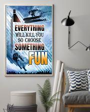 skiing choose something fun center poster 11x17 Poster lifestyle-poster-1