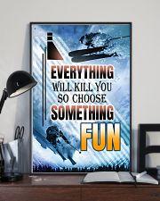 skiing choose something fun center poster 11x17 Poster lifestyle-poster-2