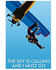 skydiving the sky is calling poster 16x24 Poster front