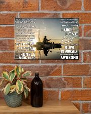 Kayak fishing today is a good day pt dvhh pml 17x11 Poster poster-landscape-17x11-lifestyle-23