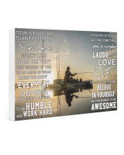 Kayak fishing today is a good day pt dvhh pml Gallery Wrapped Canvas Prints tile