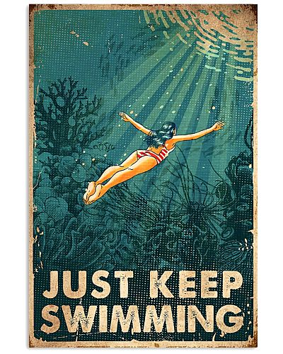 swimming just keep swimming poster