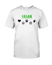 Women's The Future is Vegan Love and Peace Classic T-Shirt thumbnail