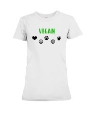 Women's The Future is Vegan Love and Peace Premium Fit Ladies Tee thumbnail