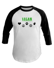 Women's The Future is Vegan Love and Peace Baseball Tee thumbnail