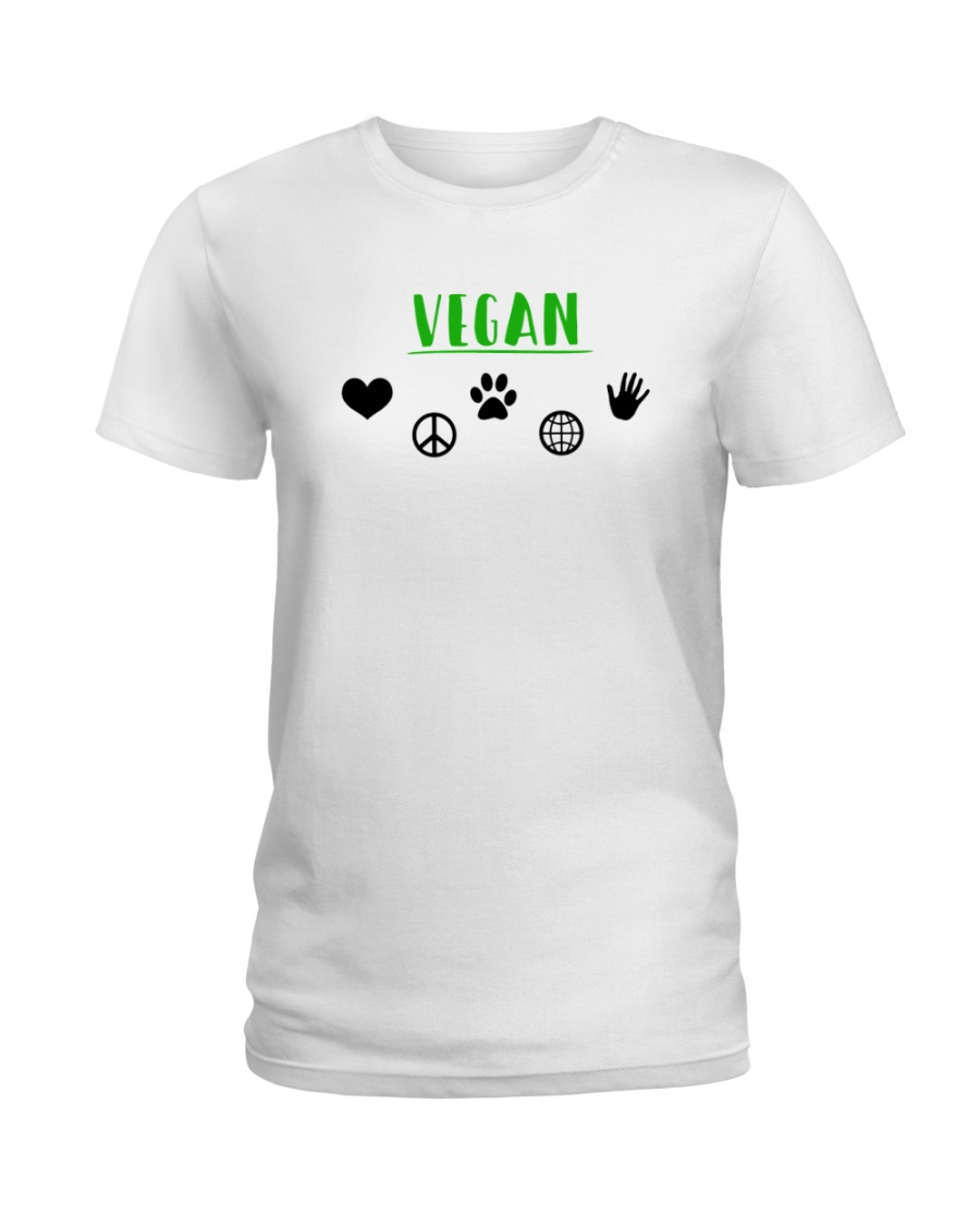 Women's The Future is Vegan Love and Peace Ladies T-Shirt