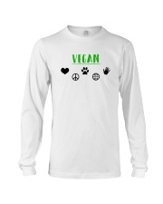 Women's The Future is Vegan Love and Peace Long Sleeve Tee thumbnail