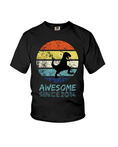 Awesome Since 2014 Black T-rex Dinosaur Tee