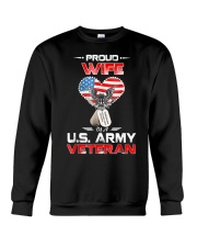 Proud Wife Of A US Army Veteran T Shirt Veteran Ts Crewneck Sweatshirt thumbnail
