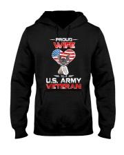 Proud Wife Of A US Army Veteran T Shirt Veteran Ts Hooded Sweatshirt thumbnail
