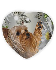 LIMITED EDITION - DOG YORKSHIRE LOVERS 10941A Heart ornament - single (wood) front