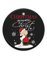 LIMITED EDITION - CHRISTMAS - 80263P Circle ornament - single (porcelain) front