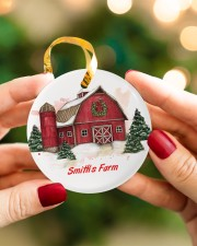 LIMITED EDITION - FARM LOVERS - 80217P Circle ornament - single (porcelain) aos-circle-ornament-single-porcelain-lifestyles-08
