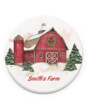 LIMITED EDITION - FARM LOVERS - 80217P Circle ornament - single (porcelain) front