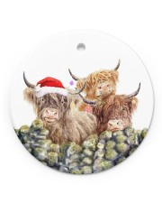 LIMITED EDITION - CHRISTMAS COW LOVER - 80289P Circle ornament - single (porcelain) front