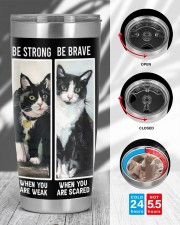 LIMITED EDITION - BLACK CAT BE STRONG - 6954TU 20oz Tumbler aos-20oz-tumbler-lifestyle-front-45