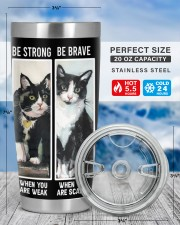 LIMITED EDITION - BLACK CAT BE STRONG - 6954TU 20oz Tumbler aos-20oz-tumbler-lifestyle-front-49