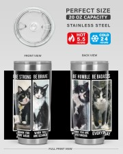 LIMITED EDITION - BLACK CAT BE STRONG - 6954TU 20oz Tumbler aos-20oz-tumbler-lifestyle-front-60