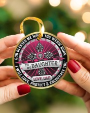 LIMITED EDITION - TO MY DAUGHTER - 10967TU Circle ornament - single (porcelain) aos-circle-ornament-single-porcelain-lifestyles-08