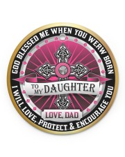 LIMITED EDITION - TO MY DAUGHTER - 10967TU Circle ornament - single (porcelain) front