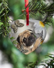 LIMITED EDITION - DOG PUG LOVERS 10942A Heart ornament - single (porcelain) aos-heart-ornament-single-porcelain-lifestyles-07