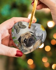 LIMITED EDITION - DOG PUG LOVERS 10942A Heart ornament - single (porcelain) aos-heart-ornament-single-porcelain-lifestyles-08