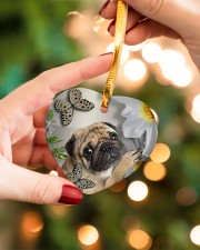 LIMITED EDITION - DOG PUG LOVERS 10942A Heart ornament - single (porcelain) aos-heart-ornament-single-porcelain-lifestyles-09