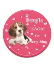 LIMITED EDITION - DOG BEAGLE 90155A Circle ornament - single (porcelain) front
