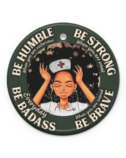 LIMITED EDITION - BE STRONG - 60033TU Circle ornament - single (porcelain) front