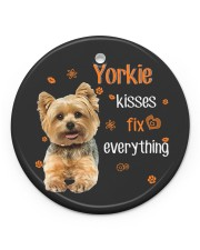 LIMITED EDITION - DOG YORKSHIRE LOVERS 90053A Circle ornament - single (porcelain) front