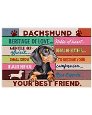 LIMITED EDITION - DOG DACHSHUND 11002A 17x11 Poster front