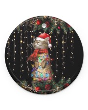 LIMITED EDITION - CAT LOVERS 90065A Circle ornament - single (porcelain) front